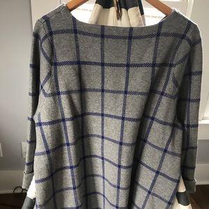 Cynthia Rowley Sweaters - Cynthia Rowley Modern Plaid Swing Sweater ✨ 2XLG